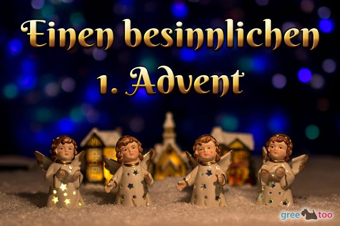 Besinnlichen 1 Advent Bild - 1gb.pics