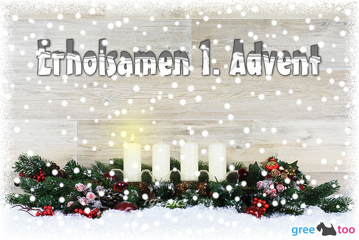Erholsamen 1 Advent Bild - 1gb.pics