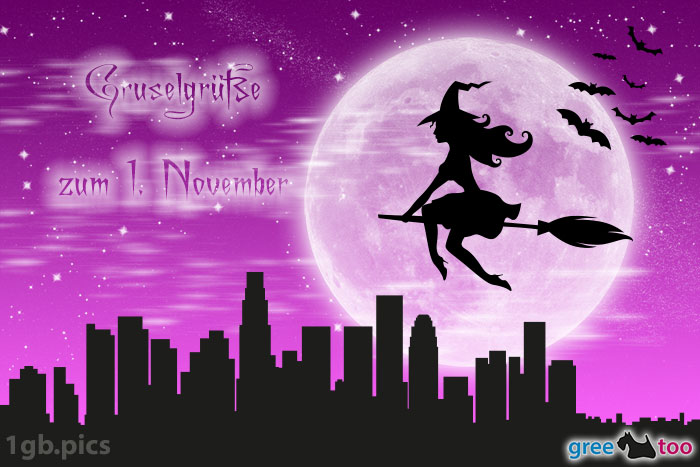 Hexe Gruselgruesse Zum 1 November Bild - 1gb.pics