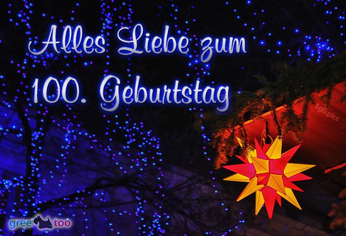 Stern Lichter Alles Liebe 100 Geburtstag Bild - 1gb.pics