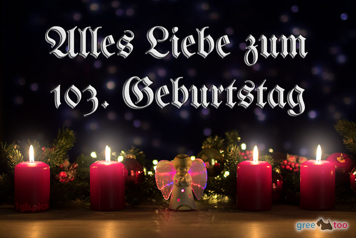 Alles Liebe 103 Geburtstag Bild - 1gb.pics