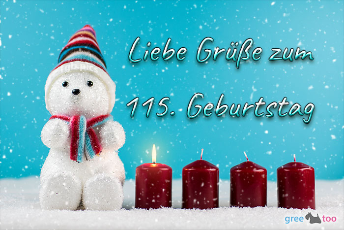 Liebe Gruesse Zum 115 Geburtstag Bild - 1gb.pics