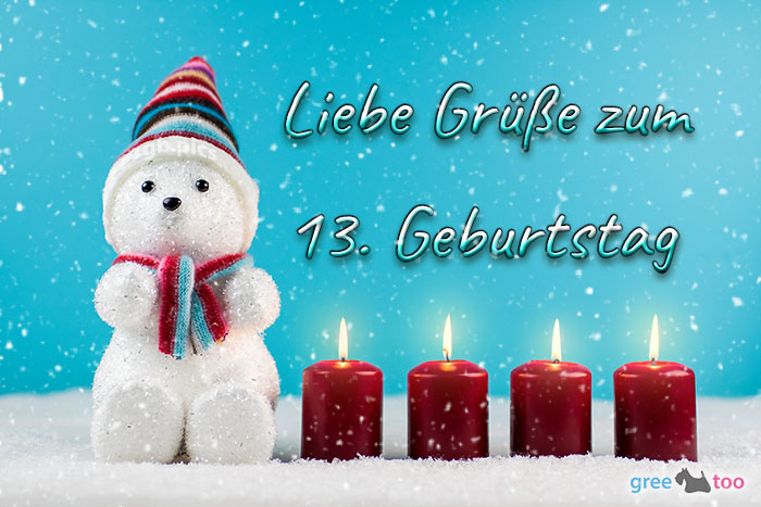 Liebe Gruesse Zum 13 Geburtstag Bild - 1gb.pics