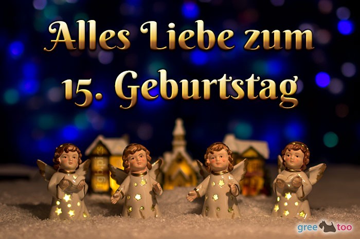 Alles Liebe 15 Geburtstag Bild - 1gb.pics