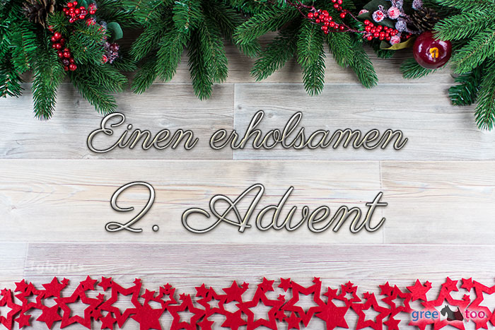 Erholsamen 2 Advent Bild - 1gb.pics