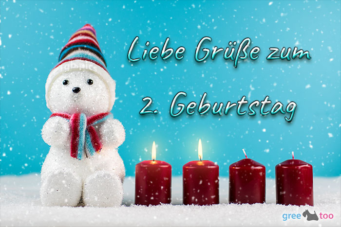 Liebe Gruesse Zum 2 Geburtstag Bild - 1gb.pics