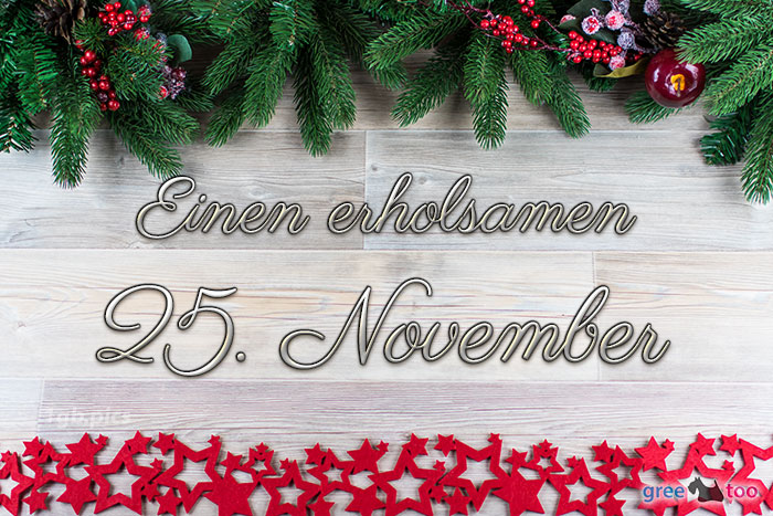 Erholsamen 25 November Bild - 1gb.pics