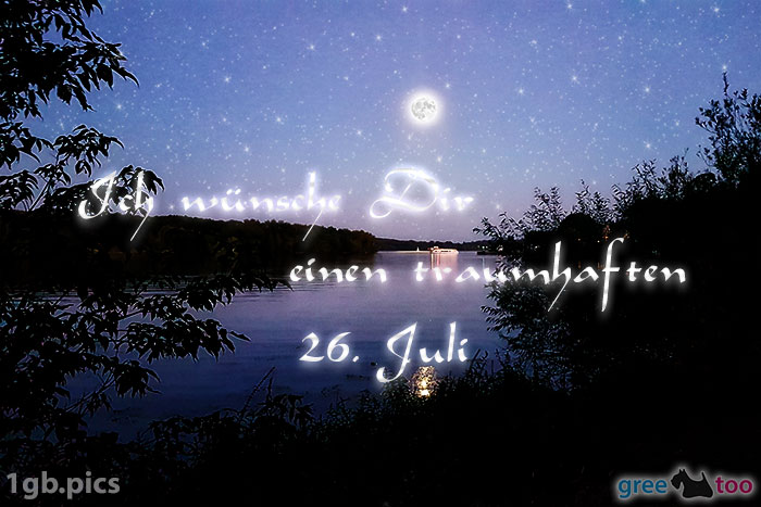 Mond Fluss Einen Traumhaften 26 Juli Bild - 1gb.pics