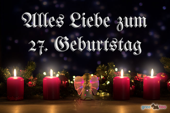 Alles Liebe 27 Geburtstag Bild - 1gb.pics