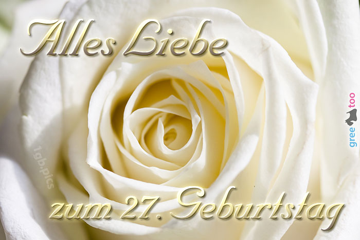 Zum 27 Geburtstag Bild - 1gb.pics
