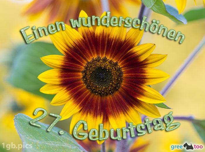 Sonnenblume Einen Wunderschoenen 27 Geburtstag Bild - 1gb.pics
