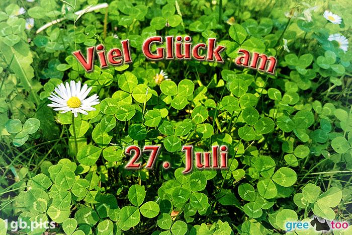Klee Gaensebluemchen Viel Glueck Am 27 Juli Bild - 1gb.pics