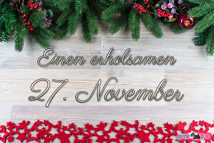 Erholsamen 27 November Bild - 1gb.pics