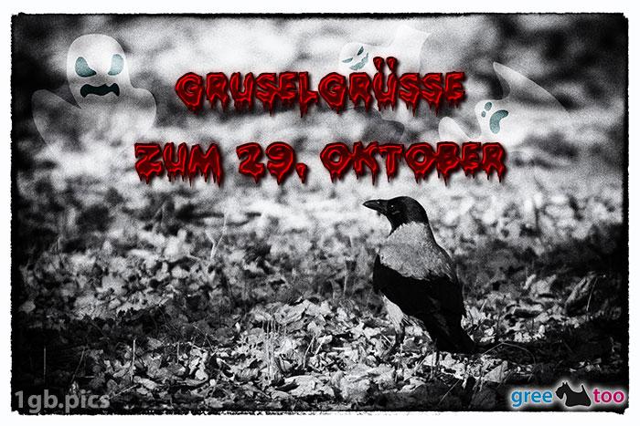 Kraehe Gruselgruesse Zum 29 Oktober Bild - 1gb.pics
