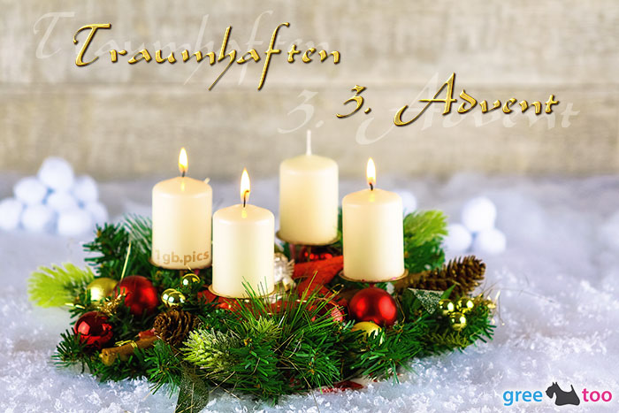 Adventskranz Beige 3 Traumhaften 3 Advent Bild - 1gb.pics