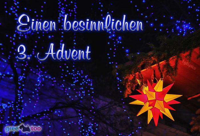 Stern Lichter Besinnlichen 3 Advent Bild - 1gb.pics