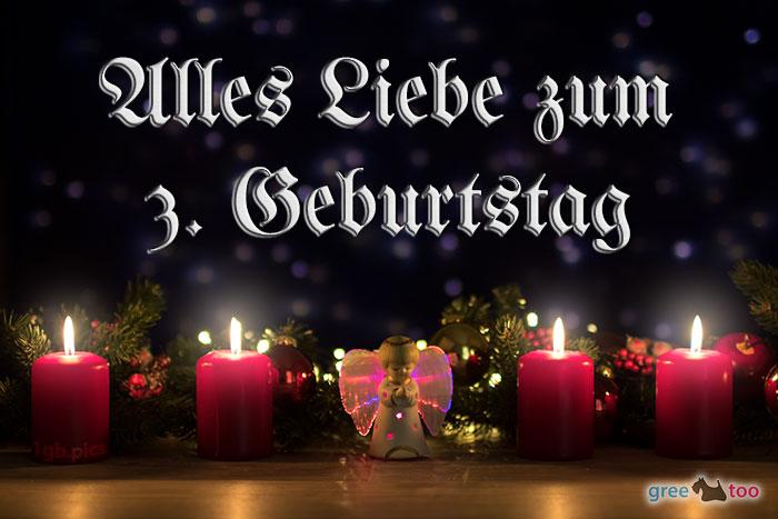 Alles Liebe 3 Geburtstag Bild - 1gb.pics