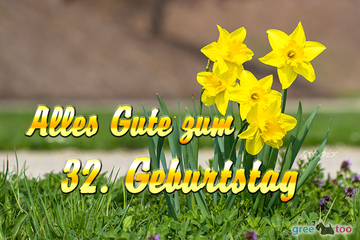 Alles Gute 32 Geburtstag Bild - 1gb.pics