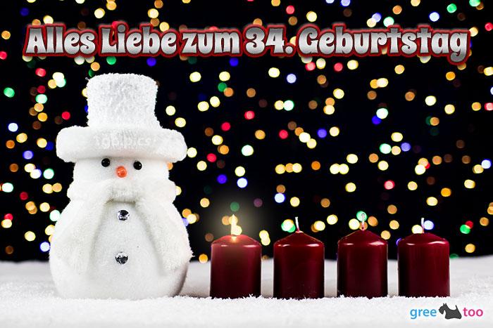 Alles Liebe Zum 34 Geburtstag Bild - 1gb.pics