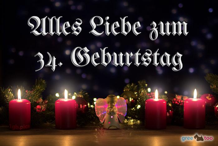 Alles Liebe 34 Geburtstag Bild - 1gb.pics