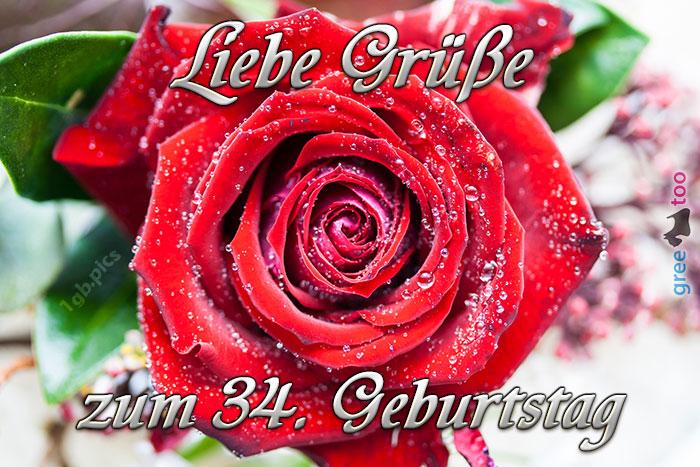 Zum 34 Geburtstag Bild - 1gb.pics