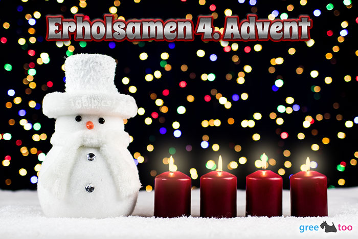 Erholsamen 4 Advent Bild - 1gb.pics