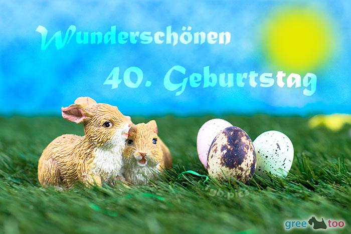 Wunderschoenen 40 Geburtstag Bild - 1gb.pics