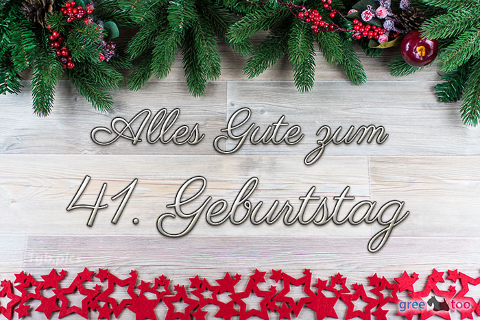 Alles Gute Zum 41 Geburtstag Bild - 1gb.pics