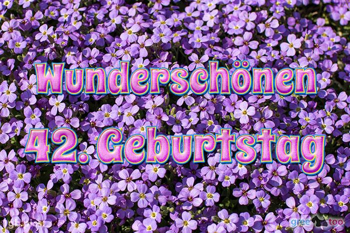 Wunderschoenen 42 Geburtstag Bild - 1gb.pics