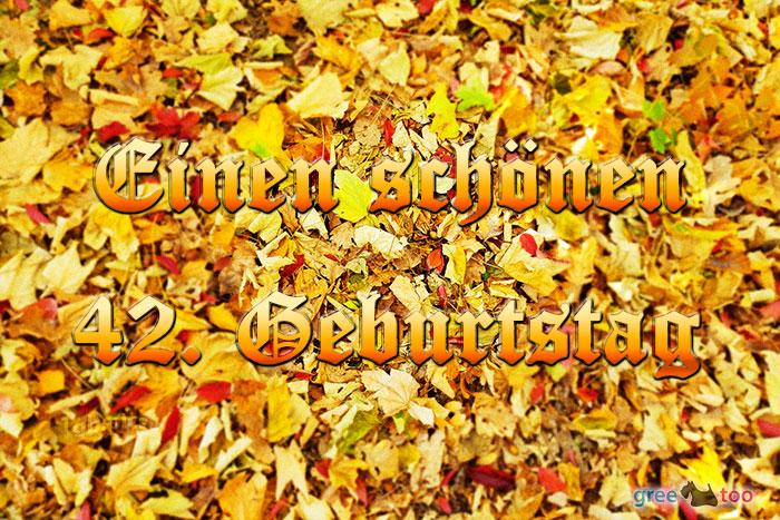 Einen Schoenen 42 Geburtstag Bild - 1gb.pics