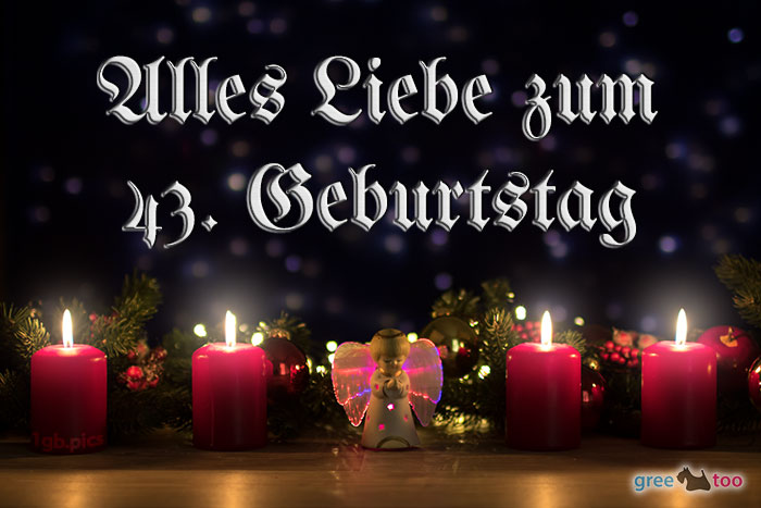 Alles Liebe 43 Geburtstag Bild - 1gb.pics
