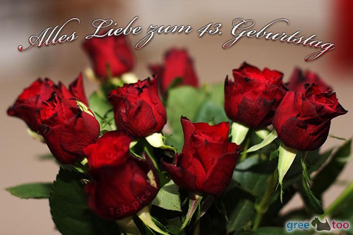 Alles Liebe Zum 43 Geburtstag Bild - 1gb.pics