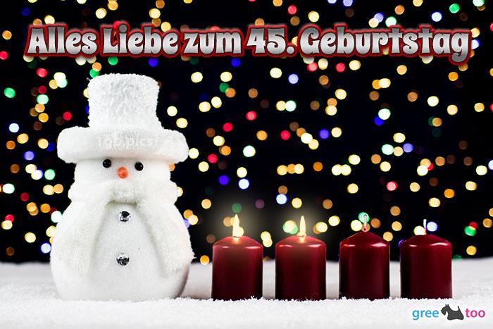 Alles Liebe Zum 45 Geburtstag Bild - 1gb.pics