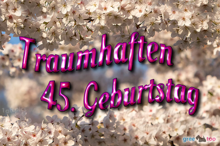 Traumhaften 45 Geburtstag Bild - 1gb.pics