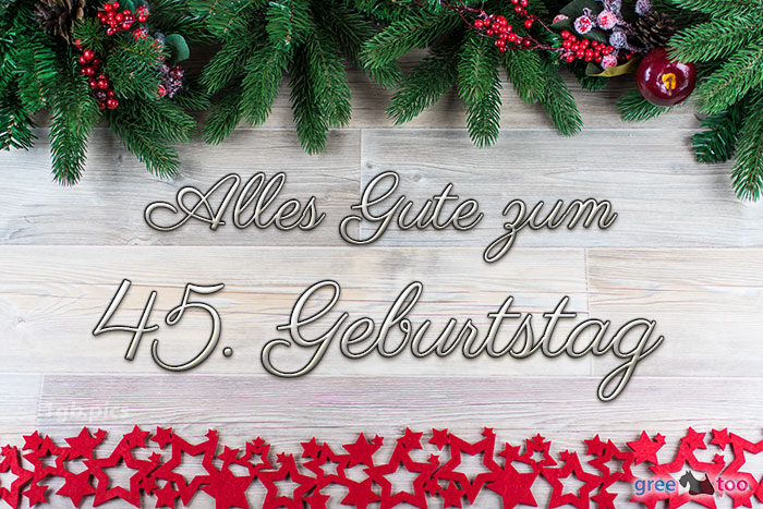 Alles Gute Zum 45 Geburtstag Bild - 1gb.pics