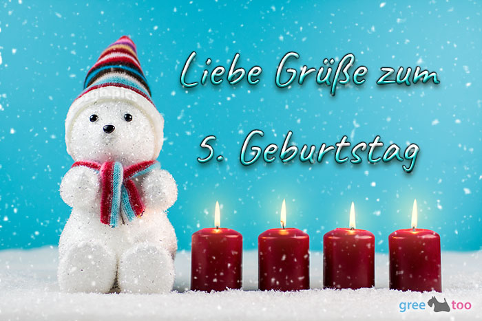 Liebe Gruesse Zum 5 Geburtstag Bild - 1gb.pics