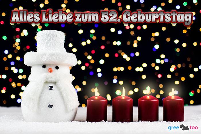 Alles Liebe Zum 52 Geburtstag Bild - 1gb.pics
