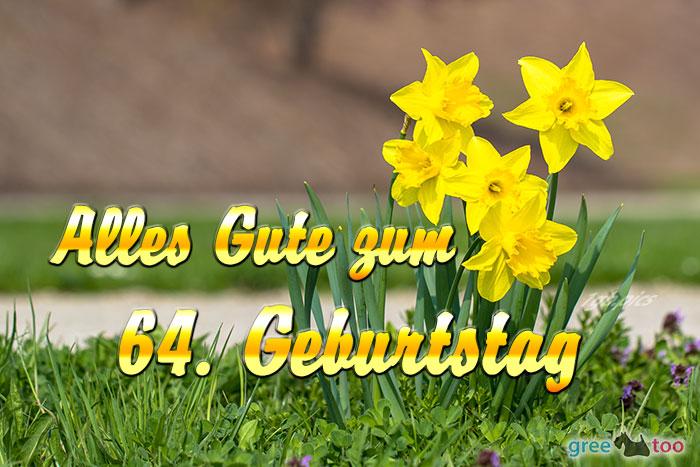 Alles Gute 64 Geburtstag Bild - 1gb.pics