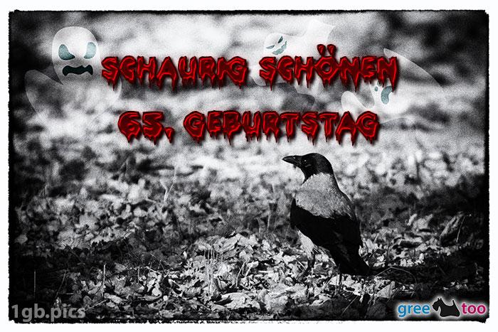 Kraehe Schaurig Schoenen 65 Geburtstag Bild - 1gb.pics