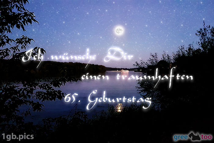 Mond Fluss Einen Traumhaften 65 Geburtstag Bild - 1gb.pics