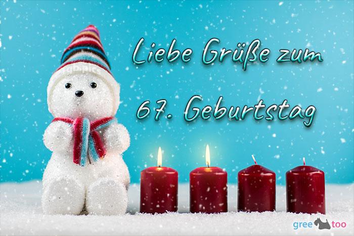 Liebe Gruesse Zum 67 Geburtstag Bild - 1gb.pics