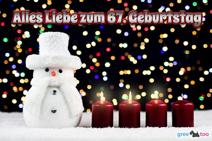 Alles Liebe Zum 67 Geburtstag Bild - 1gb.pics