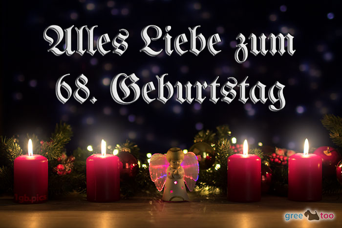 Alles Liebe 68 Geburtstag Bild - 1gb.pics