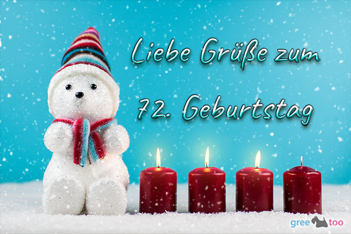 Liebe Gruesse Zum 72 Geburtstag Bild - 1gb.pics