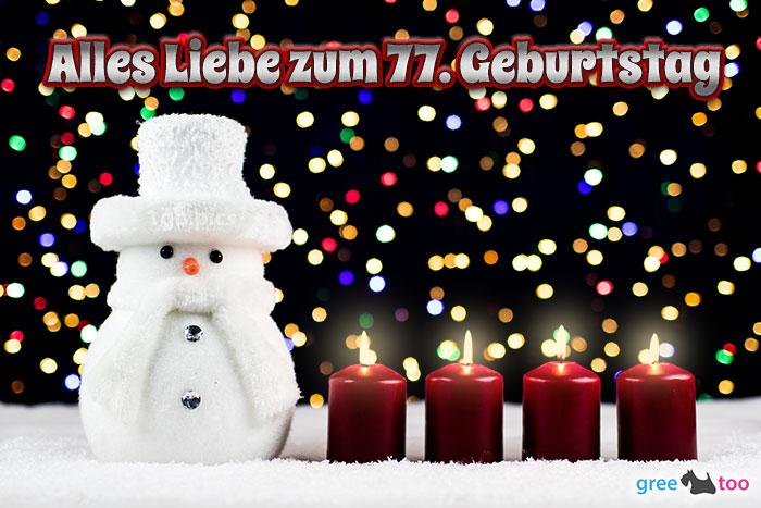 Alles Liebe Zum 77 Geburtstag Bild - 1gb.pics
