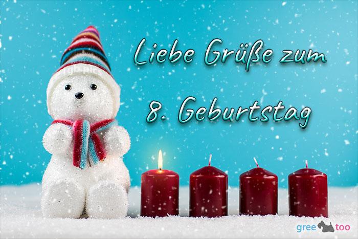 Liebe Gruesse Zum 8 Geburtstag Bild - 1gb.pics