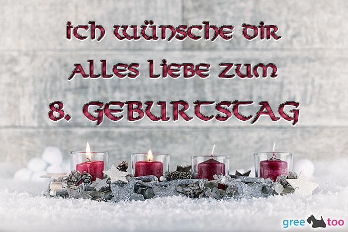Adventskerzen 2 Alles Liebe 8 Geburtstag Bild - 1gb.pics