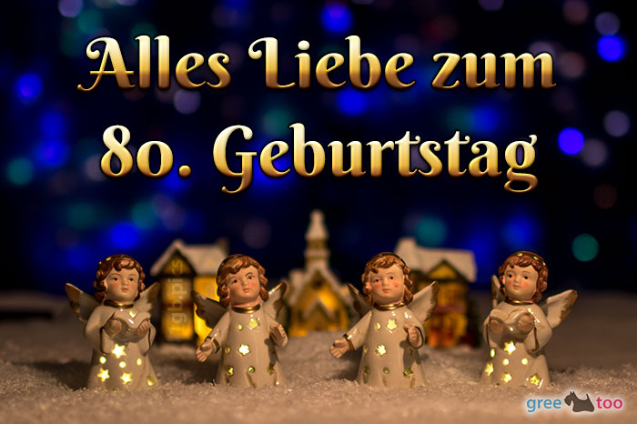 Alles Liebe 80 Geburtstag Bild - 1gb.pics