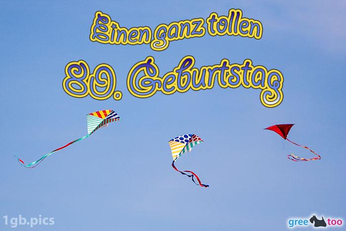 Drachen Einen Ganz Tollen 80 Geburtstag Bild - 1gb.pics