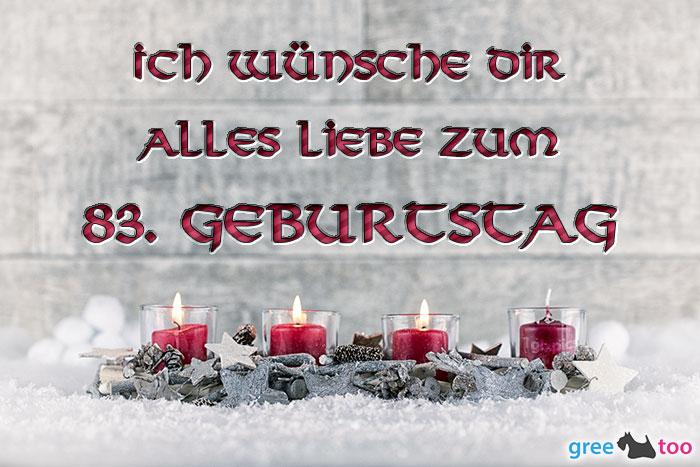 Adventskerzen 3 Alles Liebe 83 Geburtstag Bild - 1gb.pics